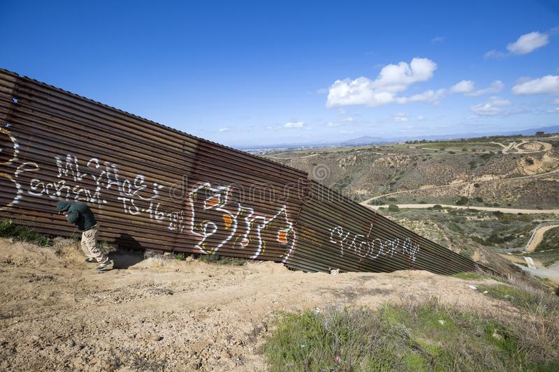 Mexico - Tijuana - The wall of shame stock photo