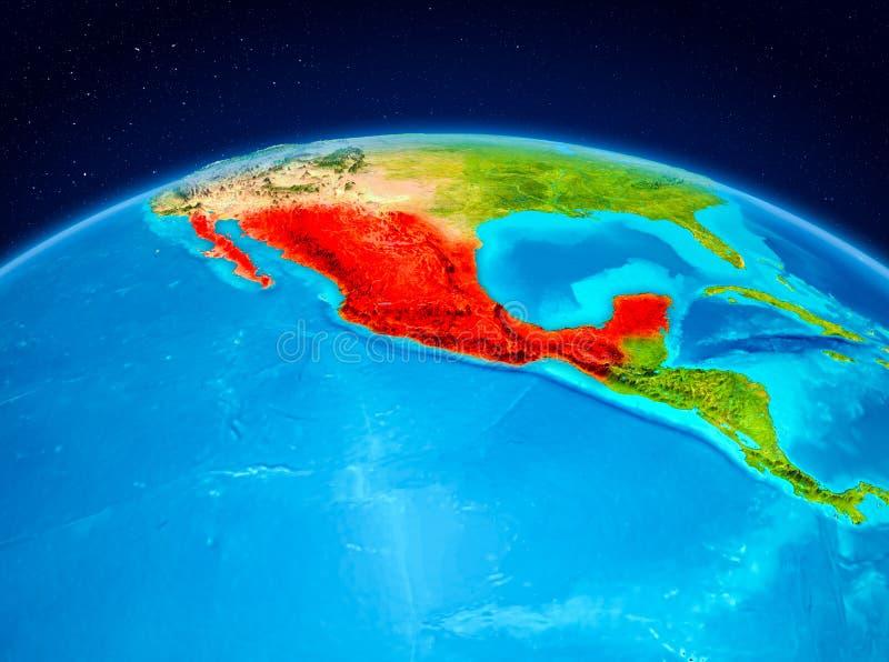 Mexico van baan royalty-vrije illustratie