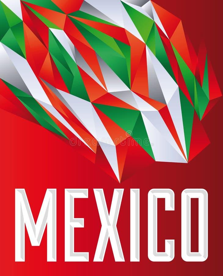 Mexico - Vector geometrische achtergrond royalty-vrije illustratie