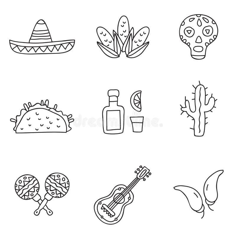 mexico Vector pictogrammen vector illustratie