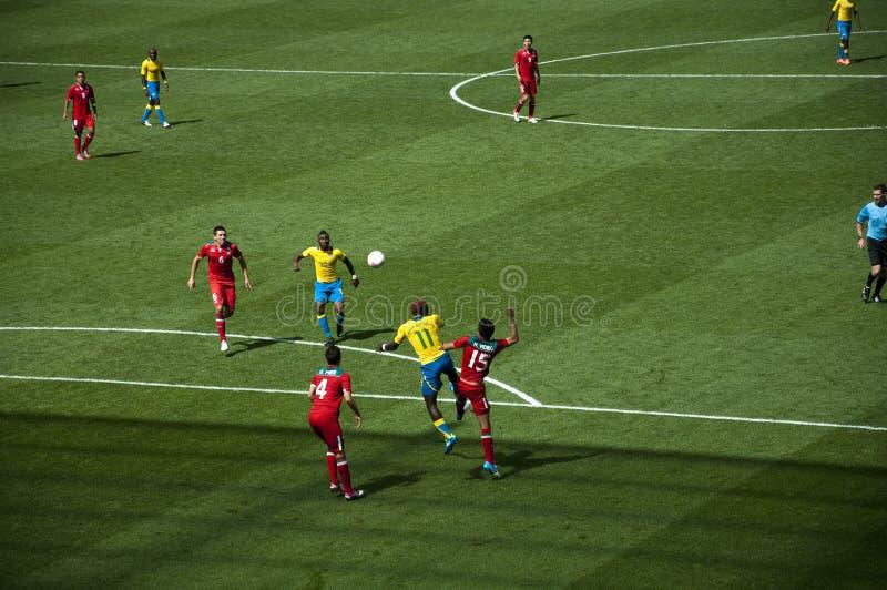 Mexico Vs Gabon in the 2012 London olympics royalty free stock photo