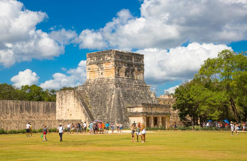 Mexico, Cancun. Mexico, Yucatan - February 17, 2018: Chichen Itza, Yucatn. Ruins of the Warriors temple. Originally created with O royalty free stock photography