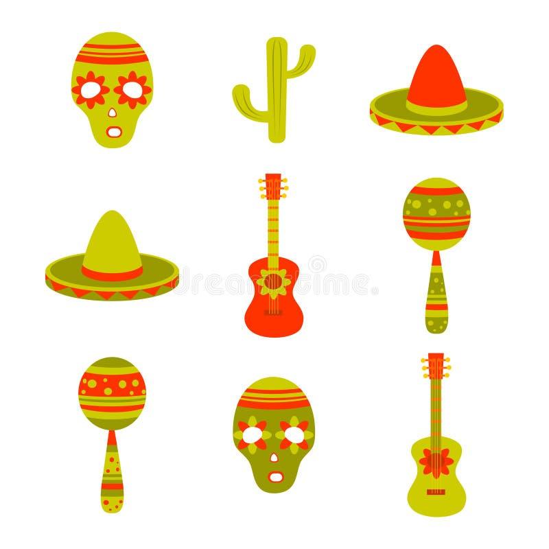 Mexikan stock illustrationer