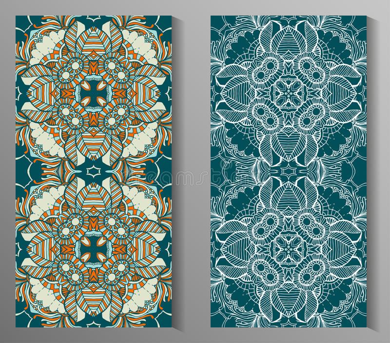 Mexikanen stiliserade talavera belägger med tegel den sömlösa modellen Bakgrund för design och mode Arabiska indiermodeller royaltyfri illustrationer