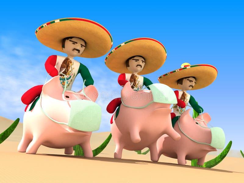 Mexikaner von einem Sombrero stockbilder