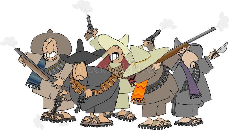 Mexikanische banditos stock abbildung
