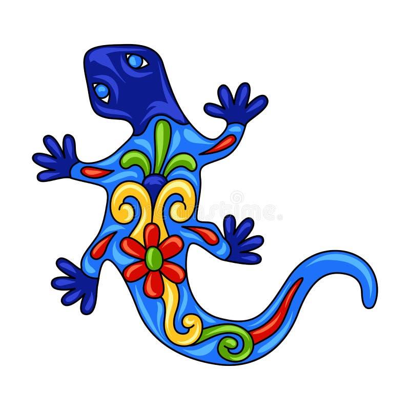 Mexikanische dekorative Eidechse lizenzfreie abbildung