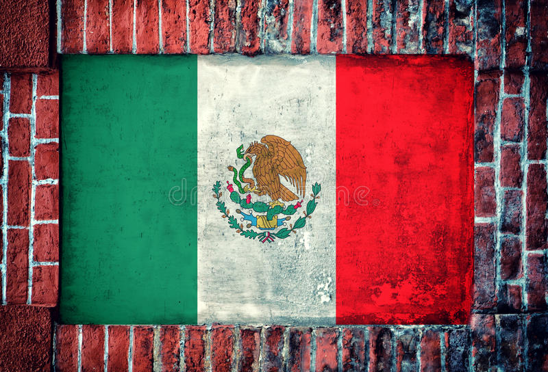 Mexikanische Flagge lizenzfreie stockbilder