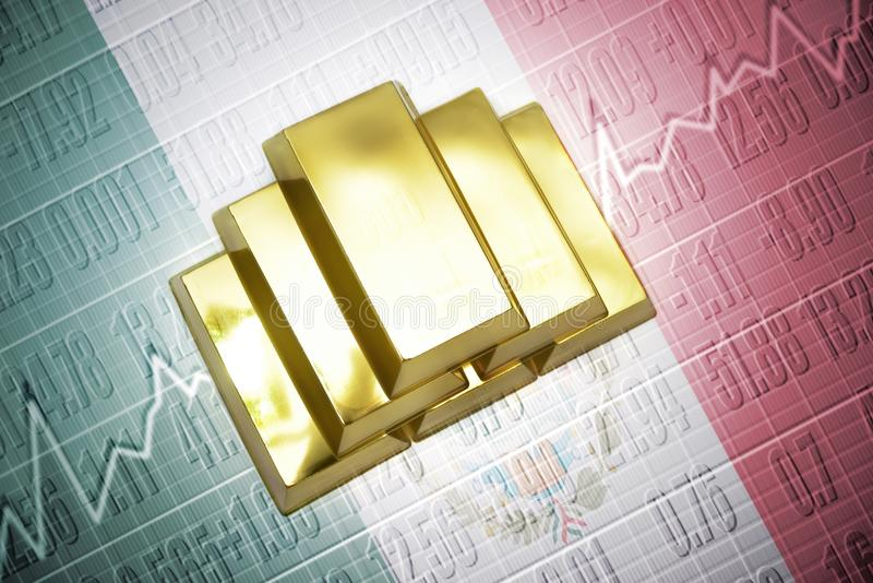 Mexikanische Goldreserven vektor abbildung