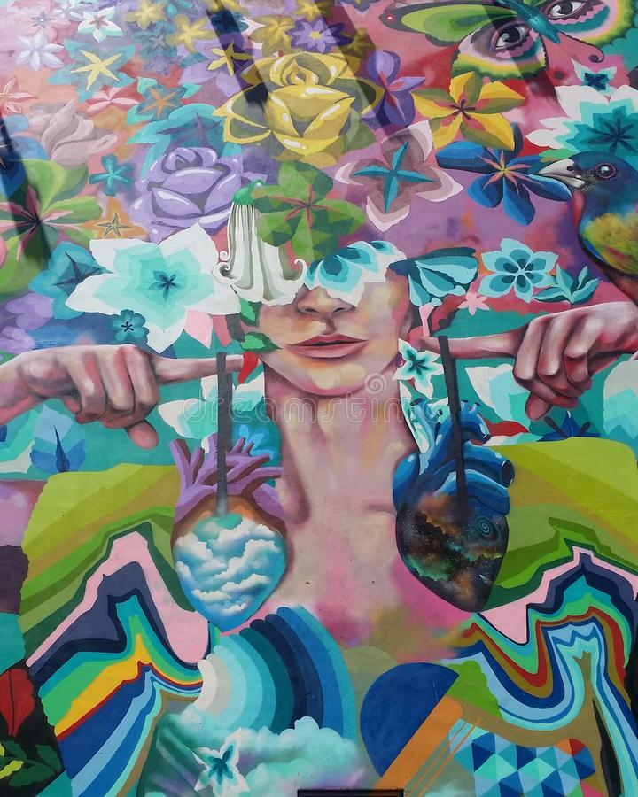 Mexikanische Graffiti lizenzfreies stockfoto