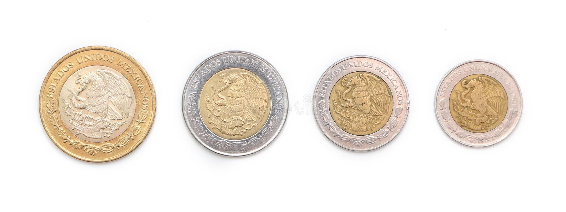Mexikanische Münzen stockfotografie