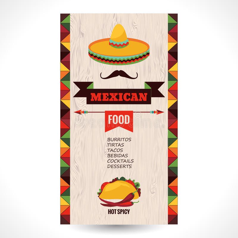 Mexikanische Nahrung stock abbildung