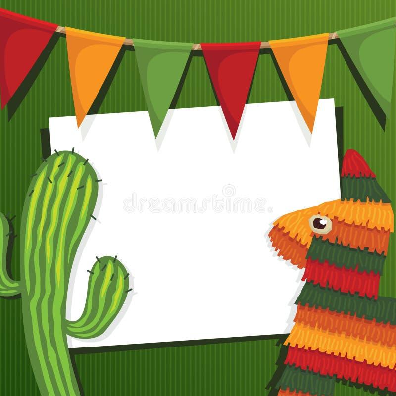 Mexikanische Partykarte lizenzfreie abbildung