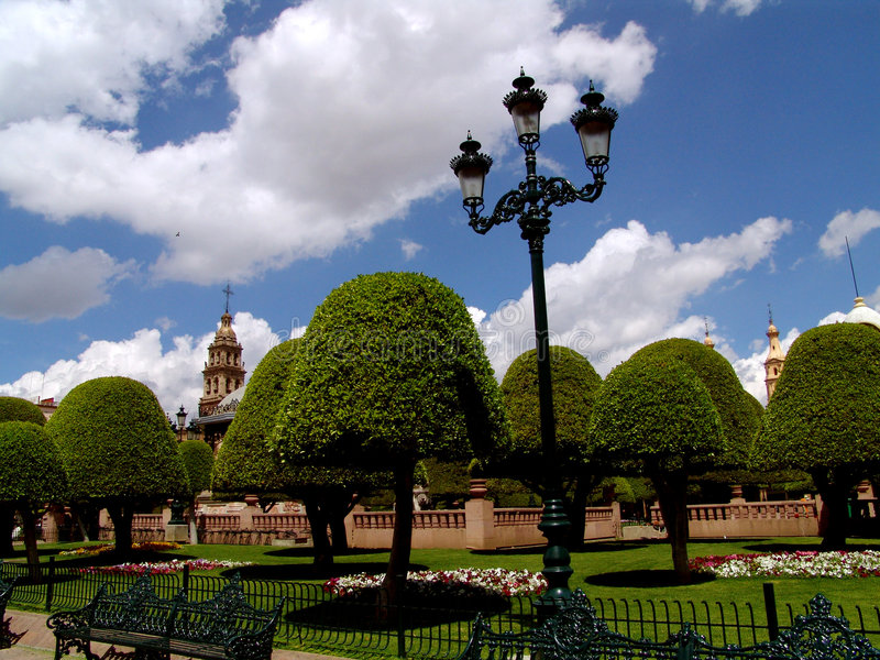 Mexikanische Piazza-Laterne stockfoto