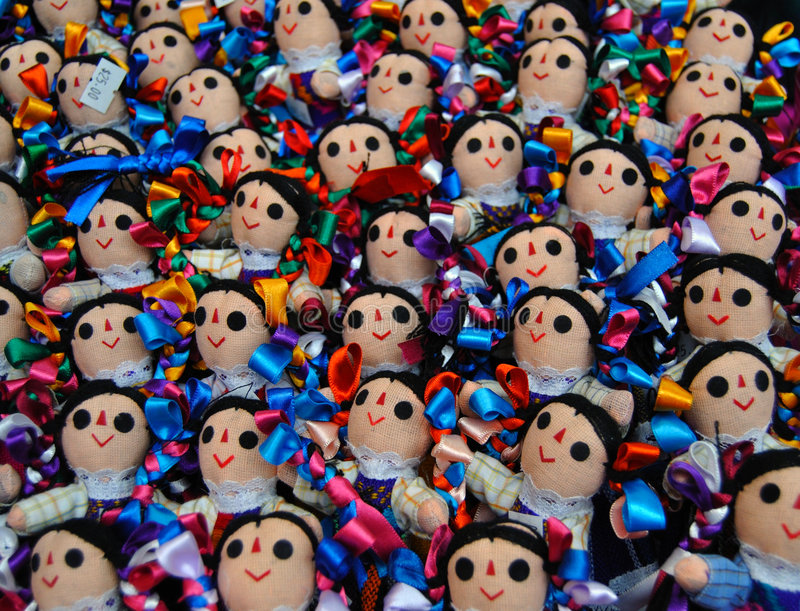 Mexikanische Puppen stockfotografie