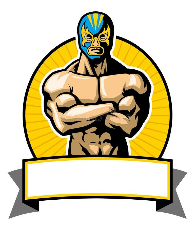 Mexikanische Ringkämpferhaltung lizenzfreie abbildung