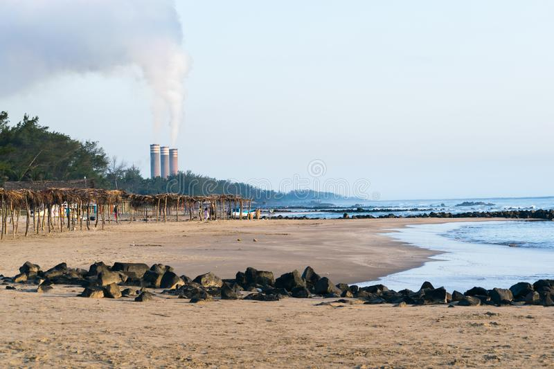 Mexikanische Strand-Szene lizenzfreies stockbild