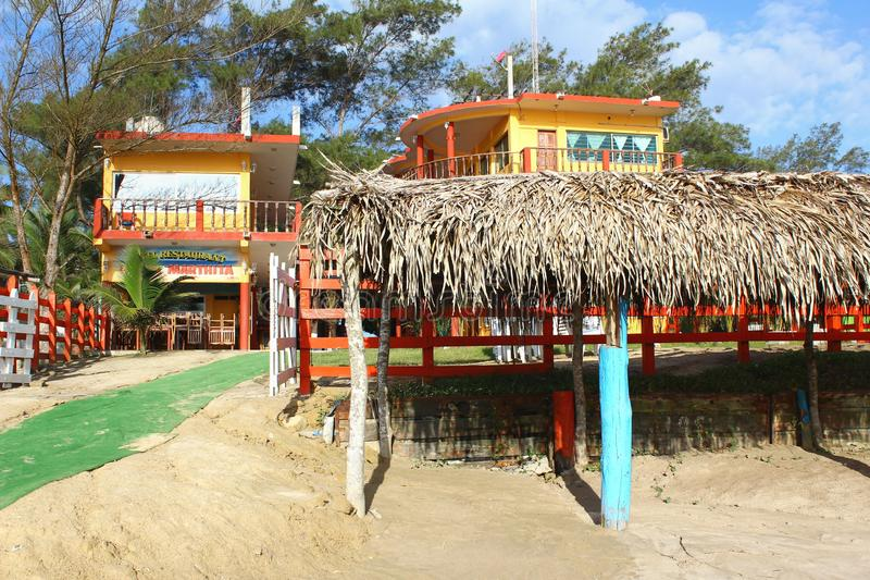 Mexikanische Strand-Szene stockbilder