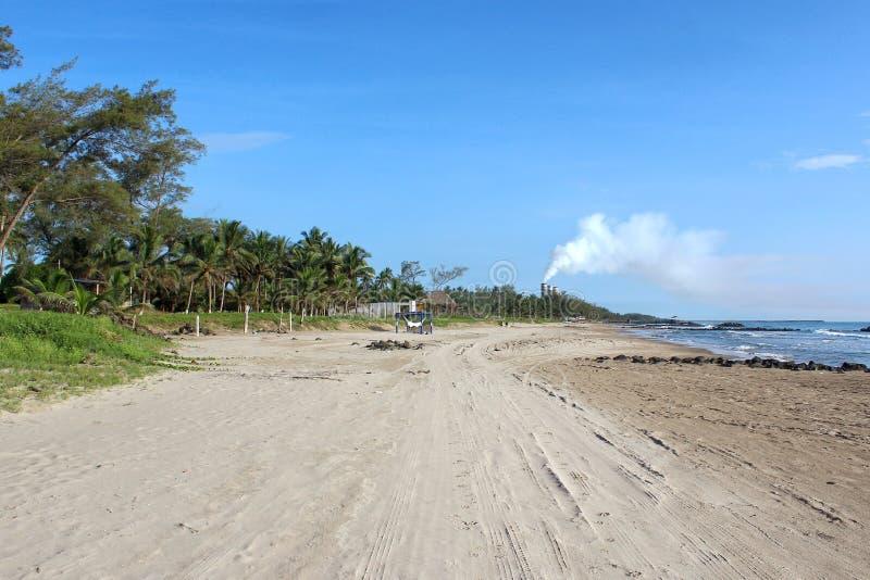 Mexikanische Strand-Szene lizenzfreies stockfoto