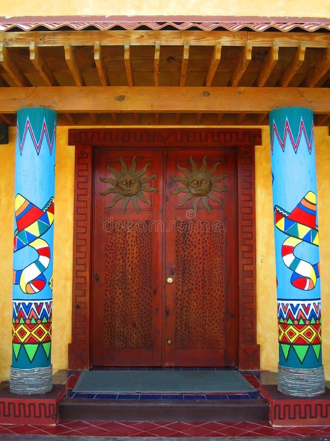 Mexikanische Türen lizenzfreie stockfotos