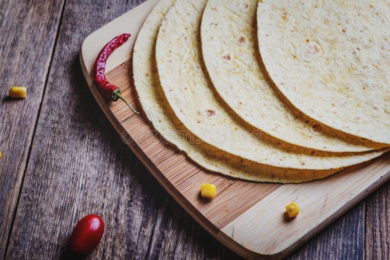 Mexikanische Tortilla-Verpackung stockbild