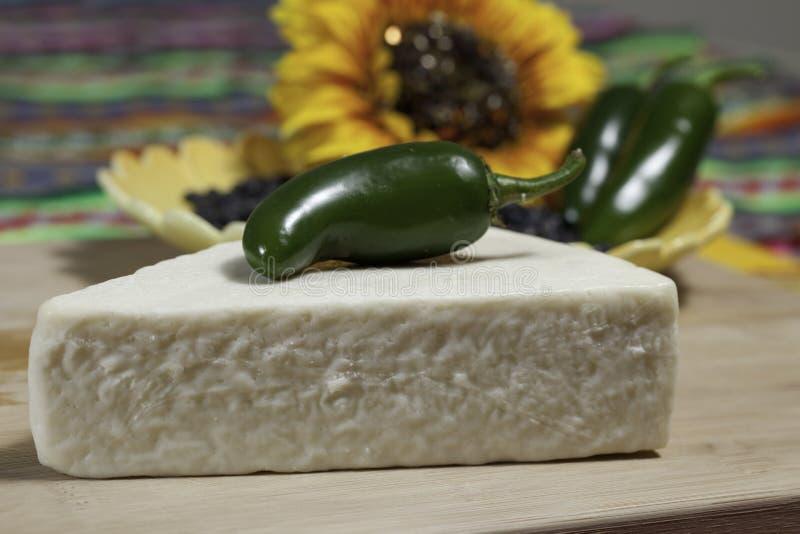 Mexikanischer Cotija Käse lizenzfreie stockbilder