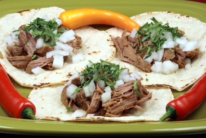 Mexikanischer Fiestafleisch Tacos stockbild