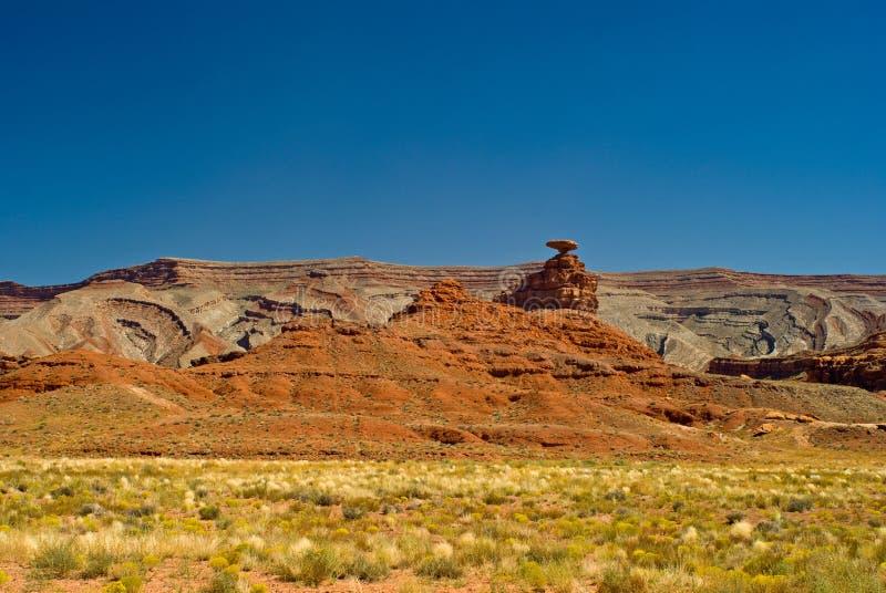 Mexikanischer Hut-Denkmal-Tal, Utah lizenzfreie stockfotografie