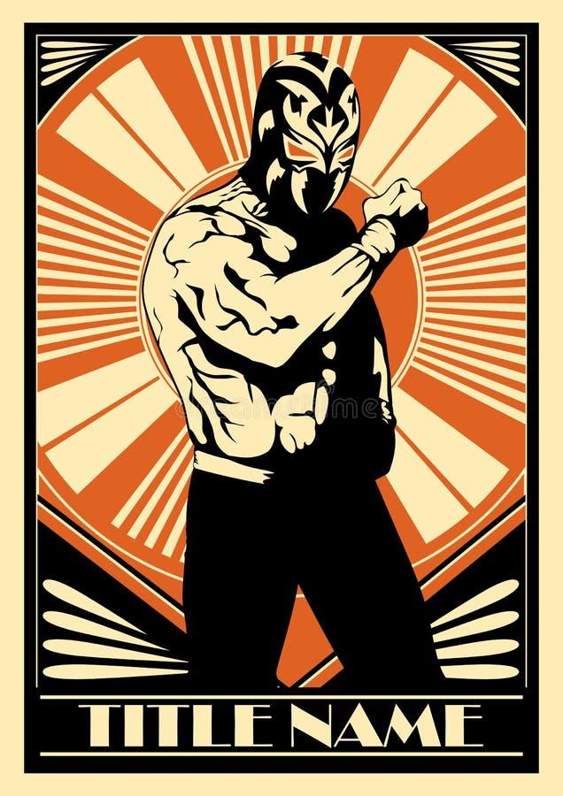 Mexikanischer Ringkämpfer lizenzfreie abbildung