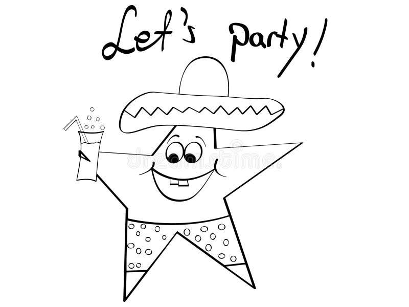 Mexikanischer Stern lizenzfreie abbildung