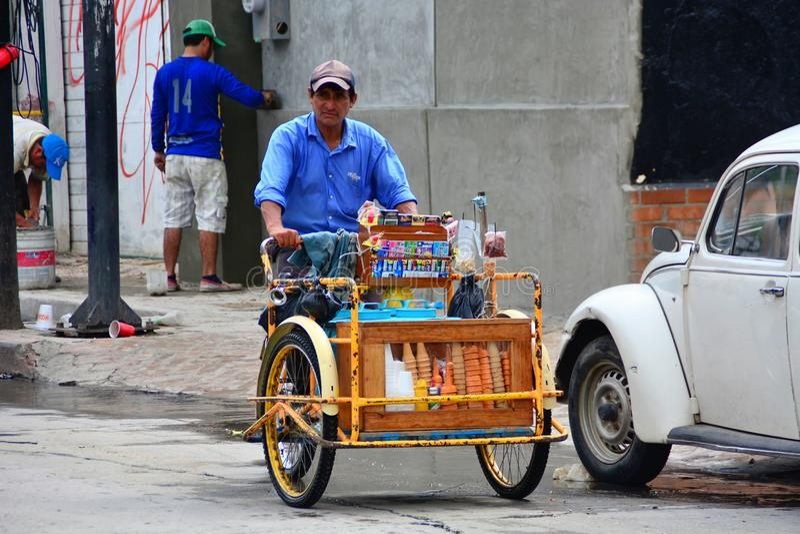 Mexikanischer Straßenhändler stockfoto