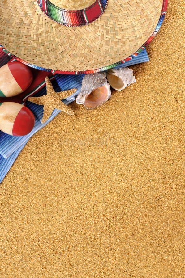 Mexikanischer Strandhintergrund lizenzfreie stockbilder