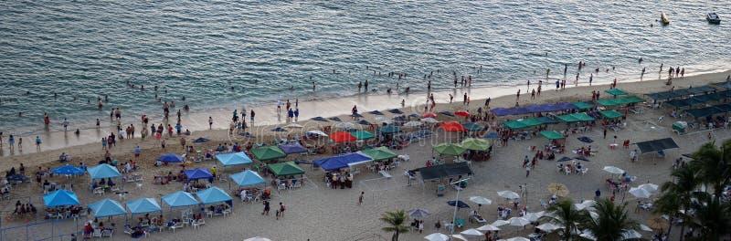 Mexikanischer Tourist in der Acapulco-Strandantenne lizenzfreie stockfotografie
