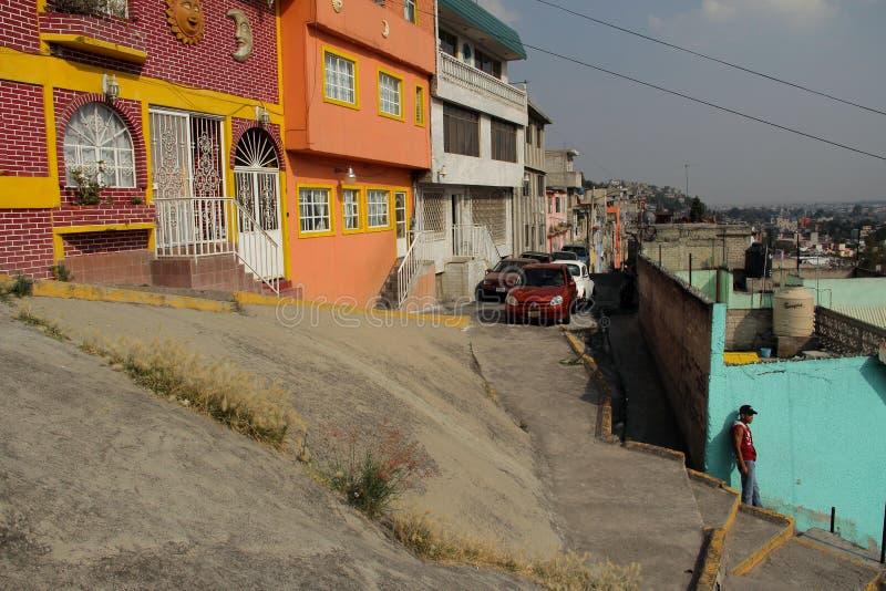 Mexikanischer Vorort Triunfo de la Republica stockbild