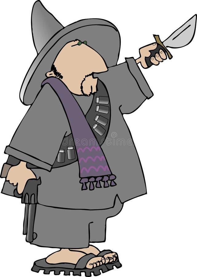 Mexikanisches bandito lizenzfreie abbildung