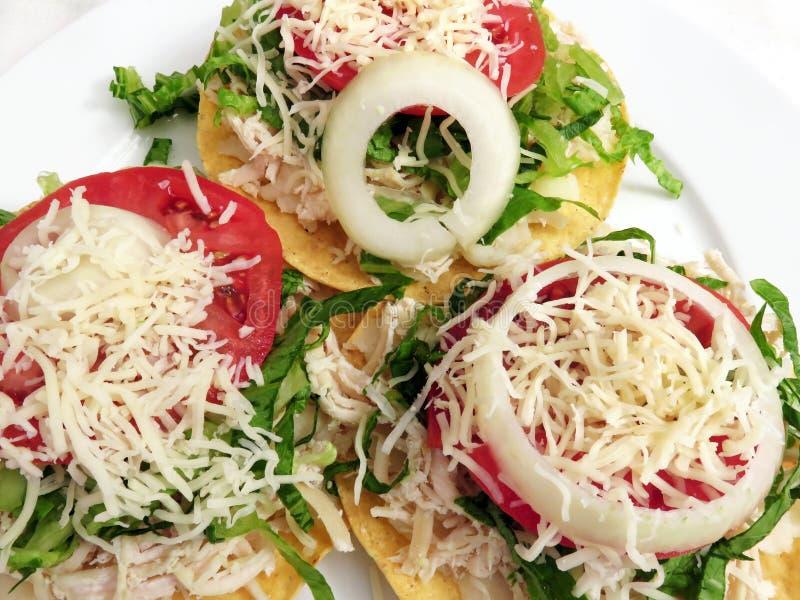 mexikanisches Essen Tostadas lizenzfreies stockfoto