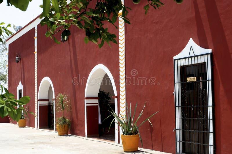 Mexikanisches kolonialrestaurant stockfotografie
