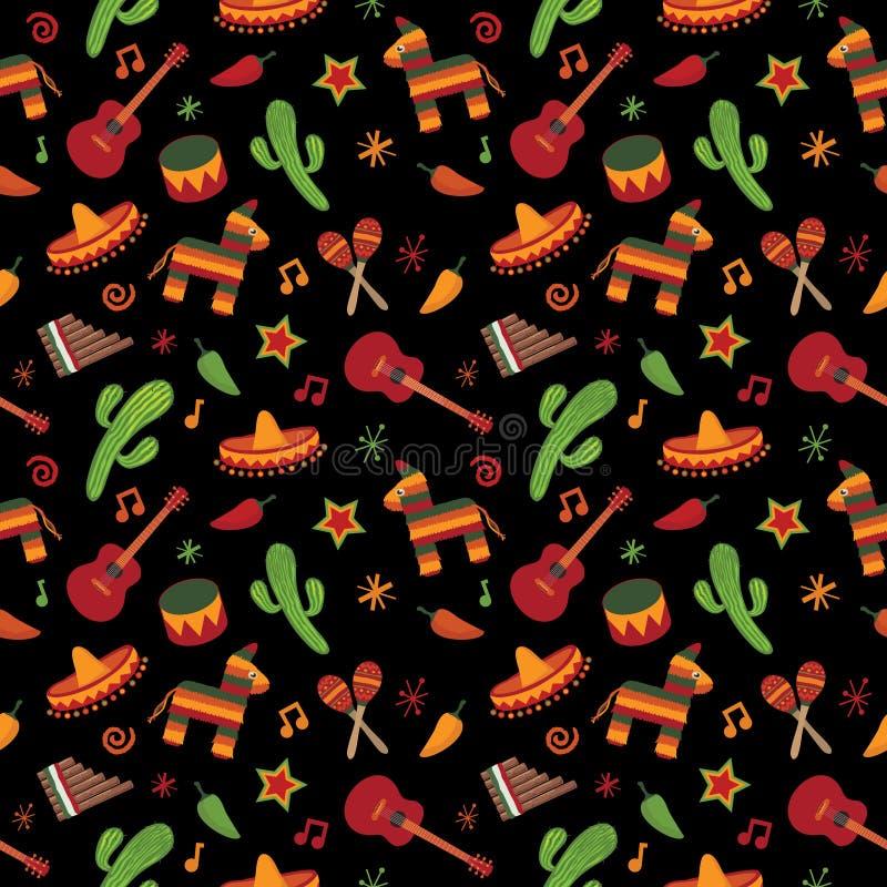 Mexikanisches Muster stock abbildung