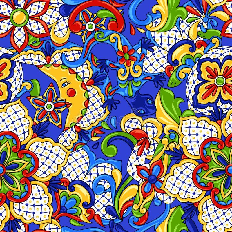 Mexikanisches nahtloses Muster stock abbildung