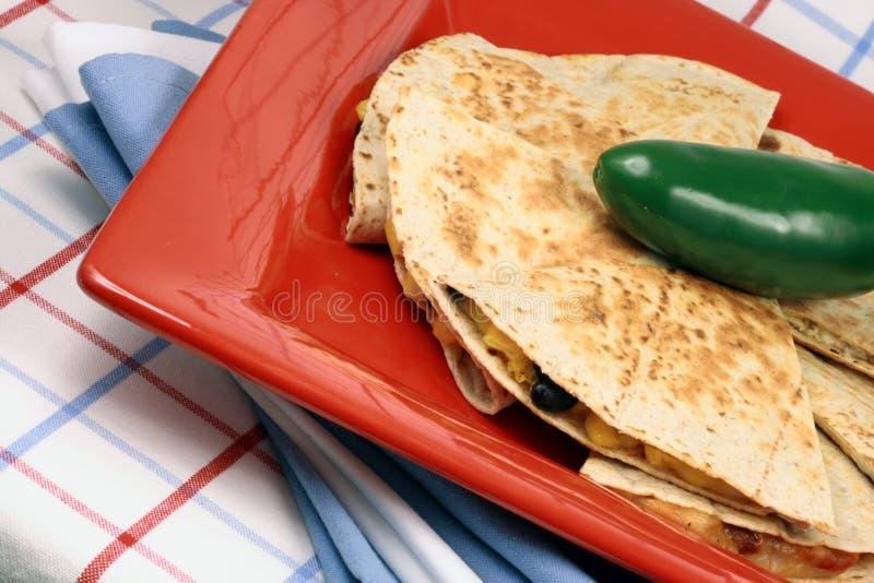 Mexikanisches quesadilla lizenzfreies stockfoto