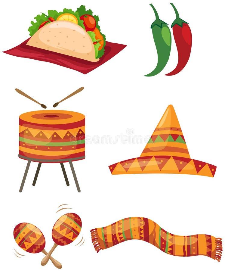 mexikanset royaltyfri illustrationer
