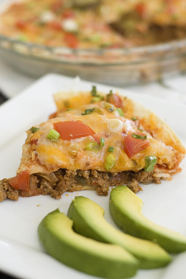 mexikansk pizza arkivbild