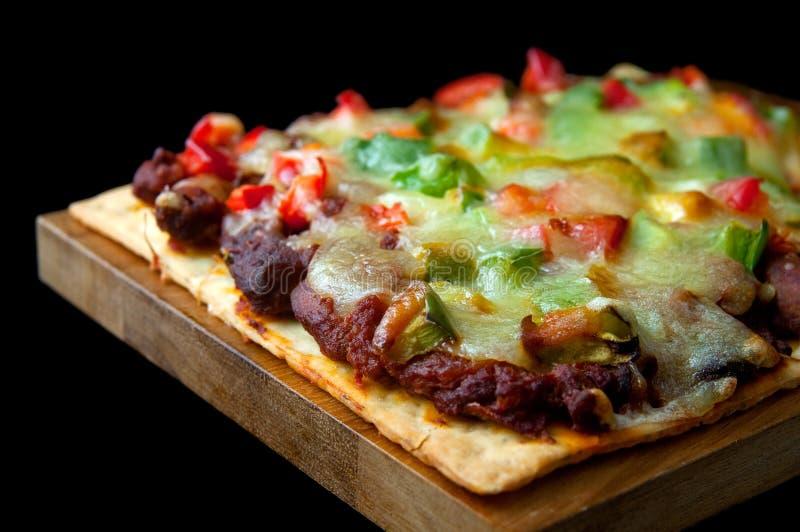 mexikansk pizza fotografering för bildbyråer