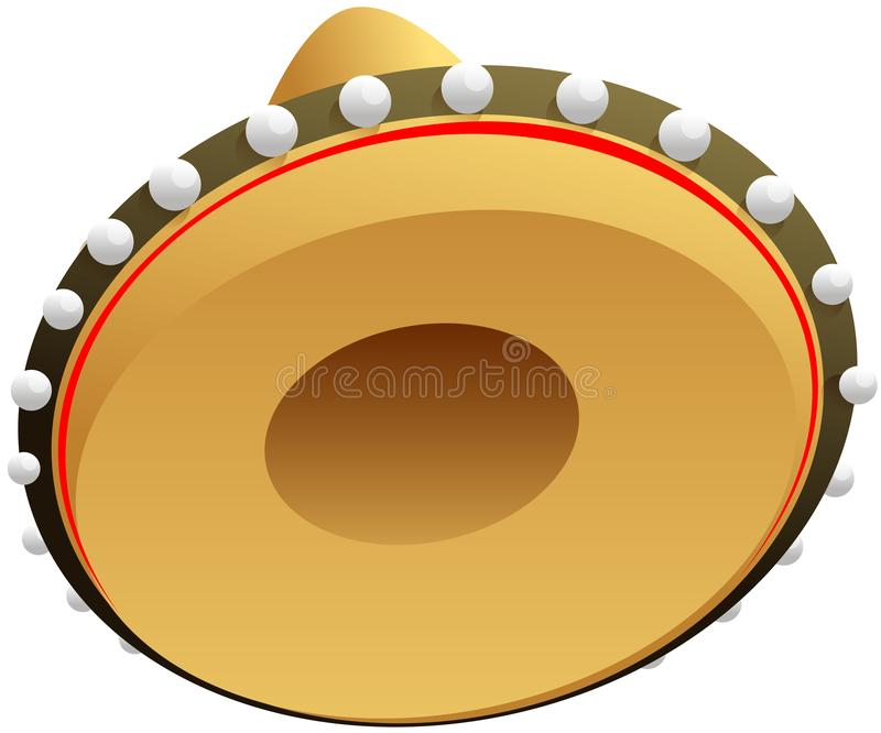 Mexikansk sugrörhatt för sombrero för ferie för cincode mayo vektor illustrationer