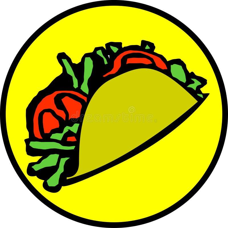 mexikansk taco vektor illustrationer
