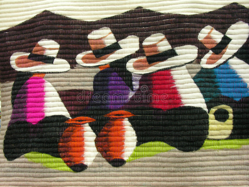 mexikansk tapestry arkivbild