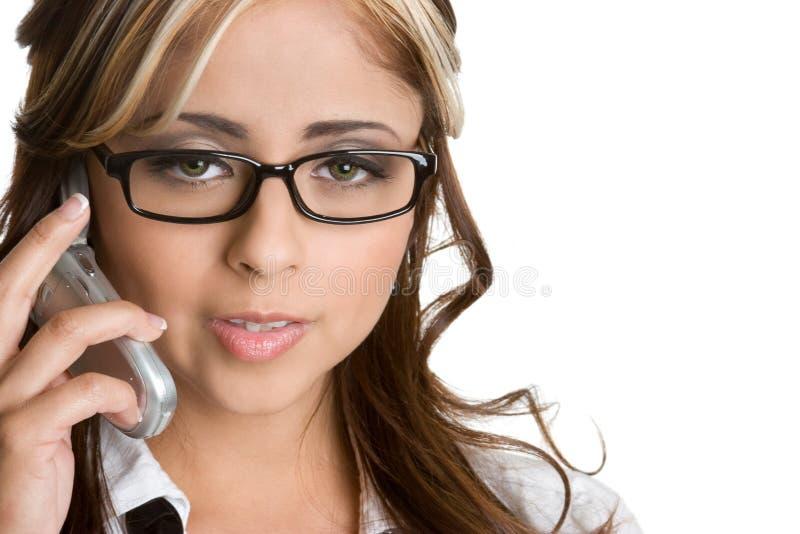 mexikansk telefonkvinna royaltyfri bild