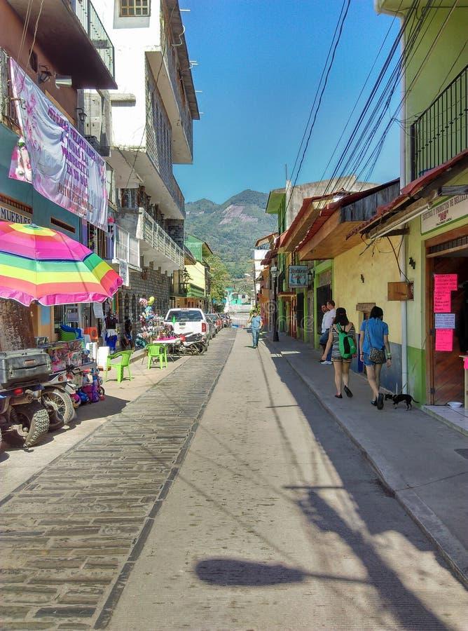 mexikansk town arkivfoton