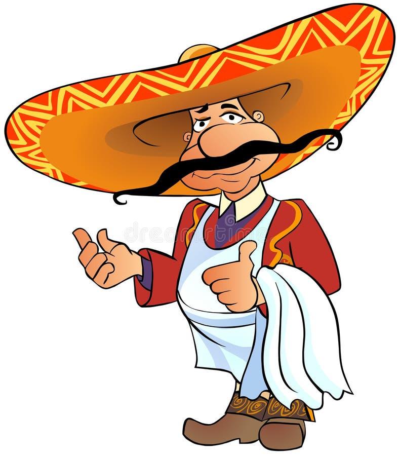 mexikansk tum för kock upp vektor illustrationer