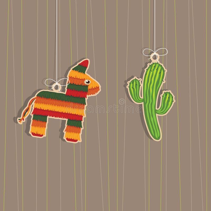 mexikanska garneringar vektor illustrationer